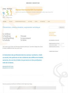 Site wordpress de Danse Harmonie Formation