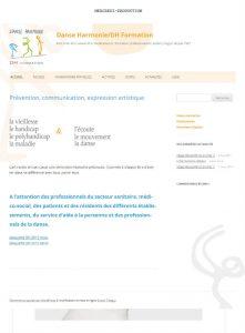 Site wordpress de Danse Harmonie Formation