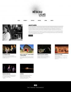 Site web Réseau Lilas - Cédric Gourmelon