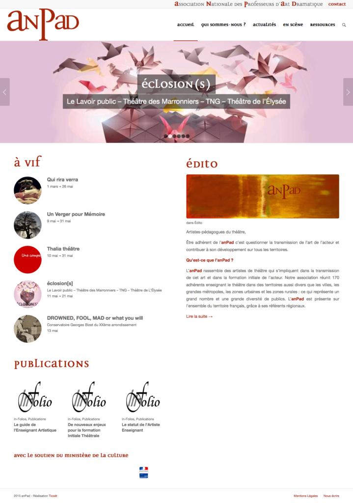 anPad - nouveau site
